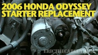Download How To Replace a Starter 2006 Honda Odyssey -EricTheCarGuy Video