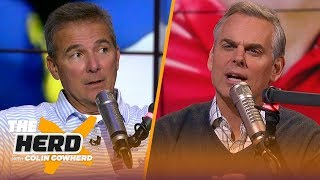 Download Urban Meyer speculates on if Lincoln Riley would take Cowboys job, talks Michigan | CFB | THE HERD Video