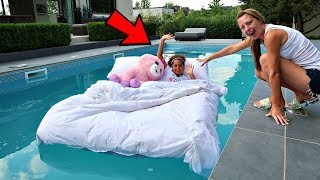 Download TIANA'S BED IN OUR SWIMMING POOL PRANK!! Video
