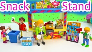 Download Playmobil Snack Food Stand Playset Toy Review & Surprise Mystery Figure Blind Bag Opening Video
