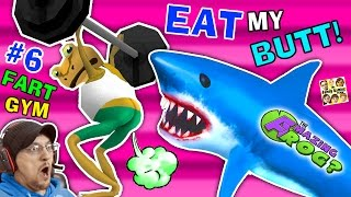 Download EAT MY BUTT SHARK! AMAZING FROG FART GYM & Inflatable Bouncy Castle Sky Fun (FGTEEV Part 6 Gameplay) Video
