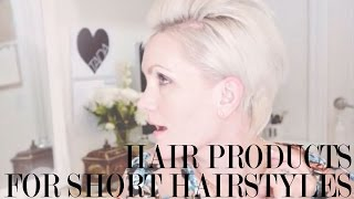 Download 3 Hair Products for short hairstyles + 3 ways to style short hair Video