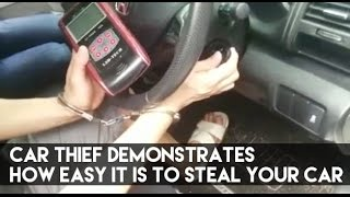 Download Car Thief Demonstrates How Easy It Is To Steal Your Car Video