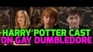 Download Harry Potter stars react to Dumbledore gay twist Video