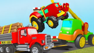Download Surprise Eggs - Tractor Trolley Toys for Kids - Surprise Eggs Videos from Jugnu Kids Video