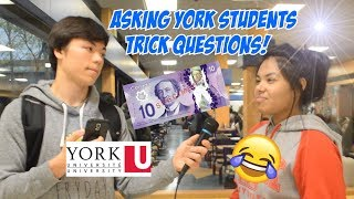 Download ASKING YORK UNIVERSITY STUDENTS TRICK QUESTIONS FOR $10!! Video