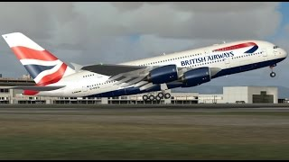 Download FSX HD Project Airbus A380 BA 286 San Francisco to London Full Flight Passenger Wing View Video