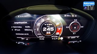 Download 2017 Audi TT RS (400hp) - 0-263 km/h LAUNCH CONTROL (60FPS) Video