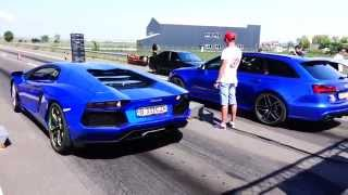 Download Lamborghini Aventador LP700-4 800HP CZR vs Audi RS6 750HP CZR Video