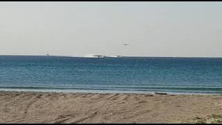 Download Wildfire in Israel. Aircrafts takes water from sea Video