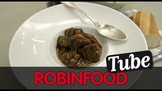 Download ROBINFOOD / Guiso de morcillo de vaca + Puré de patata y calabacín + Cóctel ″Txispagorri″ Video