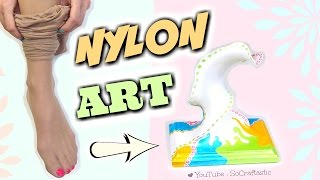 Download PANTYHOSE into ART!? DIY Nylon Sculpture - Transform Ripped Stockings How To Video