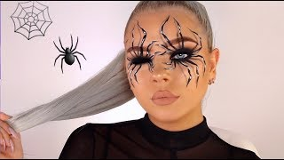 Download EASY SPIDER ILLUSION HALLOWEEN MAKEUP TUTORIAL! Video