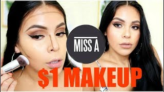 Download FULL FACE USING $1 MAKEUP + BRUSHES!? HIT OR MISS | JuicyJas Video
