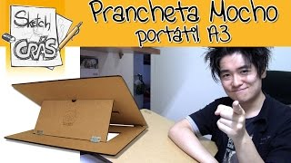 Download Prancheta Mocho slim A3 para desenho - Sketch Crás Video