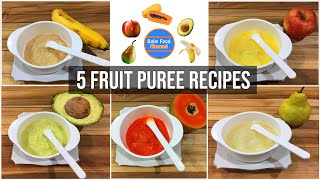 Download Best baby food for 6 month old - 5 homemade puree baby food Video