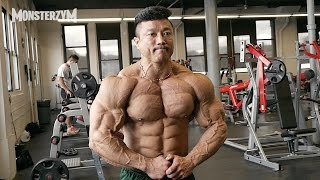 Download 2015 MR.OLYMPIA D-5 Chest workout (KYUNG WON KANG) Video