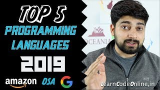 Download Top 5 programming language in 2019 with Learning Paths Video