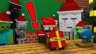 Download Monster School: OPENING CHRISTMAS PRESENT - Minecraft Animation Video