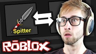 Download Roblox - Murder Mystery 2 - GOLD KNIFE TRADING & UNBOXING!?? Video