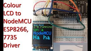 Download Connecting Colour LCD to NodeMCU ESP8266 (128x128) 7735 driver Video