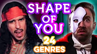 Download 24 Genres. Two Artists. One song - Shape of You Ed Sheeran Video