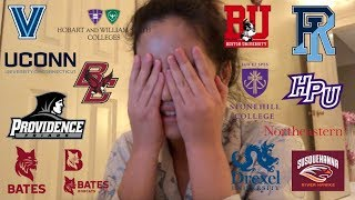 Download GETTING REJECTED FROM NEARLY ALL COLLEGES || College Decision Reactions Video