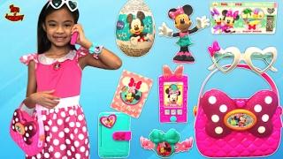 Download Minnie's Happy Helper Bag Set Unboxing Surprise Eggs Toys   Toys Academy Video