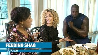 Download What it takes to feed NBA giant Shaq Video