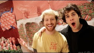 Download WRAPPING DAVID'S ENTIRE HOUSE!! (surprise) Video