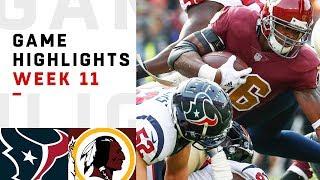 Download Texans vs. Redskins Week 11 Highlights | NFL 2018 Video