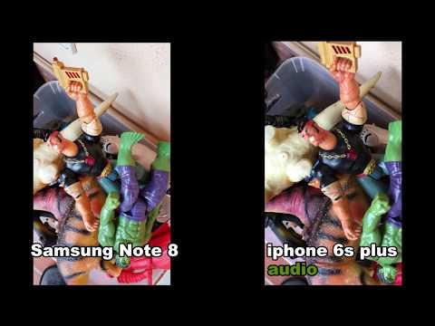 Samsung Note 8 VS iphone 6S PLUS  test (4K video sample)