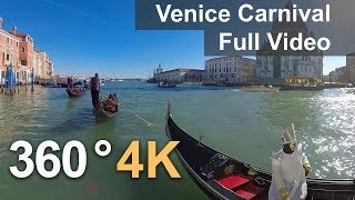 Download 360°, Carnival of Venice, Italy. 4К video Video