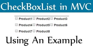 Download CheckBoxList in Asp MVC Using Sql DataBase Video