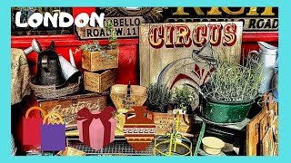 Download LONDON, the famous PORTOBELLO ROAD antiques market in Notting Hill (ENGLAND) Video