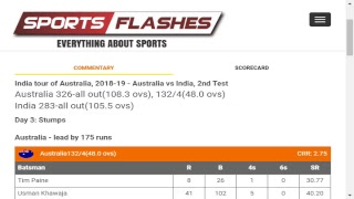Download Live: Australia vs India #2ndTest Day3 #Cricket Match English Commentary from Stadium #Sportsflashes Video