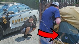 Download MYSTERIOUS TENT IN OUR BACKYARD!! (COPS CALLED) Video