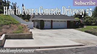 Download How to Pour a Concrete Driveway #5 DIY Video