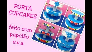 Download Porta Doces de Papelão e EVA Fácil e Barato | PORTA CUPCAKES Video