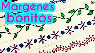 Download margenes / marcos para cuadernos | margenes bonitos | bordes para cartas | margenes para cuadernos Video