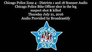 Download Scanner Audio Chicago Police Bike Officer shot suspect shot & killed 10-1 Video