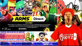 Download LIVE REACTION!!!!! ARMS NINTENDO DIRECT 5.17.17!!!! NINTENDO SWITCH HYPE!!!! Video
