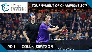 Download Squash: Coll v Simpson - Tournament of Champions 2017 Rd 1 Highlights Video