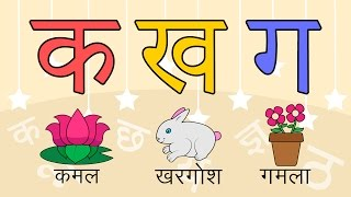 Download Learn 36 Hindi Varnamala letters with pictures Video