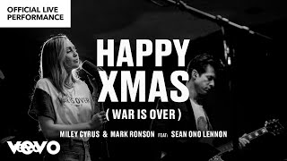 Download Miley Cyrus, Mark Ronson ft. Sean Ono Lennon - ″Happy Xmas (War is Over)″ Official Performance |Vevo Video
