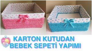 Download KARTON KUTUDAN BEBEK SEPETİ YAPIMI // DIY BABY BASKET Video