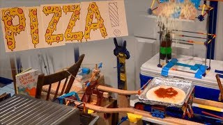 Download THE PIZZA MACHINE! (Pizza Making Rube Goldberg Machine) Video