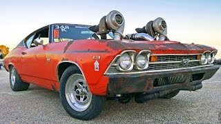 Download Aussie TURBO OVERLOAD - 1300hp Twin Turbo CHEVELLE Video