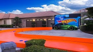 Download I Built a REAL Life-Size Hot Wheels Track! Video