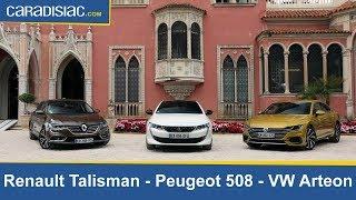 Download Comparatif vidéo : Peugeot 508 vs Renault Talisman et Volkswagen Arteon Video